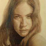 "Sixteen Going on  Twenty-one 20""x14"" conte crayon"
