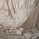 "Winter Thaw 14"" x 21"",  silver point"