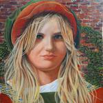 "Lucca Girl 12"" x 12"" egg tempera   SOLD"