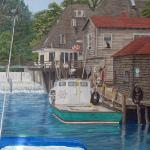 "Fish Town 25"" x 30""  egg tempera prints available"