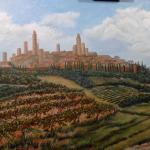 "San Gimignano 24"" x 48"" oil on canvas"